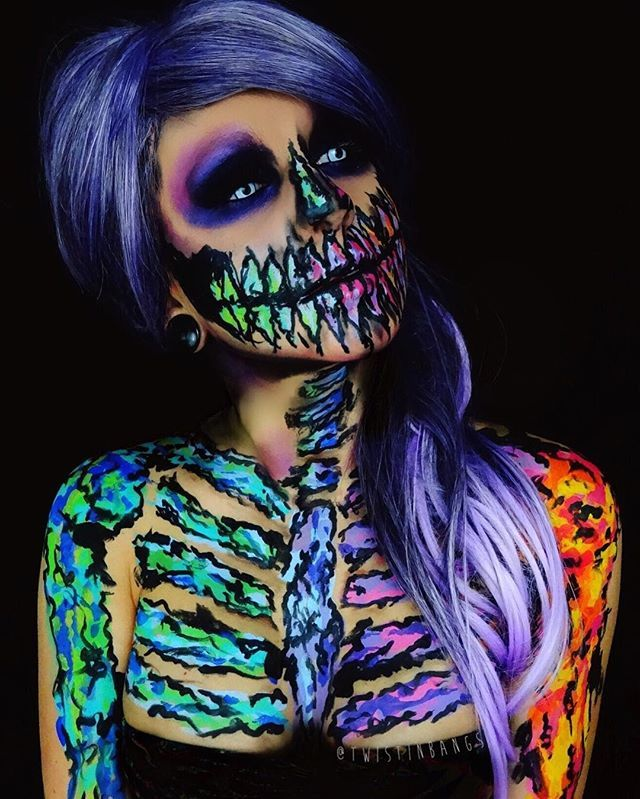 60 terrifyingly cool skeleton makeup ideas to try for halloween - Halloween Skeleton Makeup Ideas