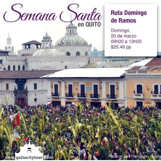 """Domingo 20 de marzo, te invitamos a ser parte de la Ruta """"Domingo de Ramos"""" donde reviviremos el significado de la entrada triunfal de Jesús. También visitaremos templos e iconografías que hablan de la vida del Hijo de Dios. Y cerraremos el tour con una increíble exhibición de Ramos Ecológicos.   #Quito #Ecuador #Tour #Tradiciones #Experiencia Contáctanos y reserva tu cupo: (593) 9 9675 4263 / 9 9271 9026 / Worldwide: (593) 2 6042427"""