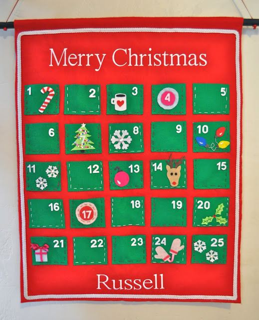 Make Life Lovely: DIY Felt Advent Calendar