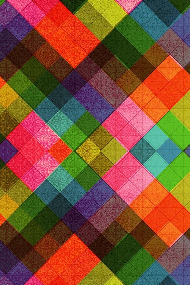 Multicolored Tile Pattern Abstract #iPhone #Wallpaper