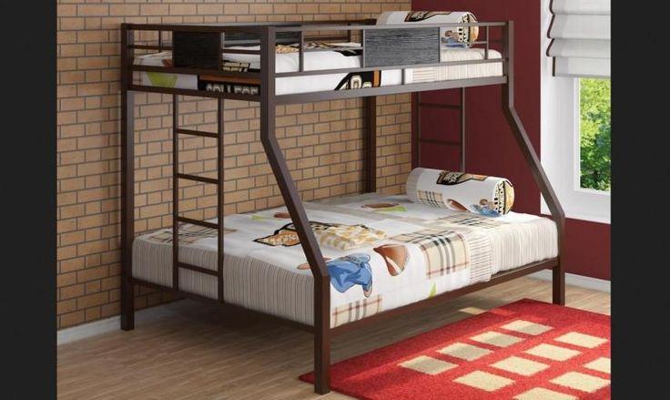 двухъярусная кровать, металлическая кровать, кровать до 15 тысяч
