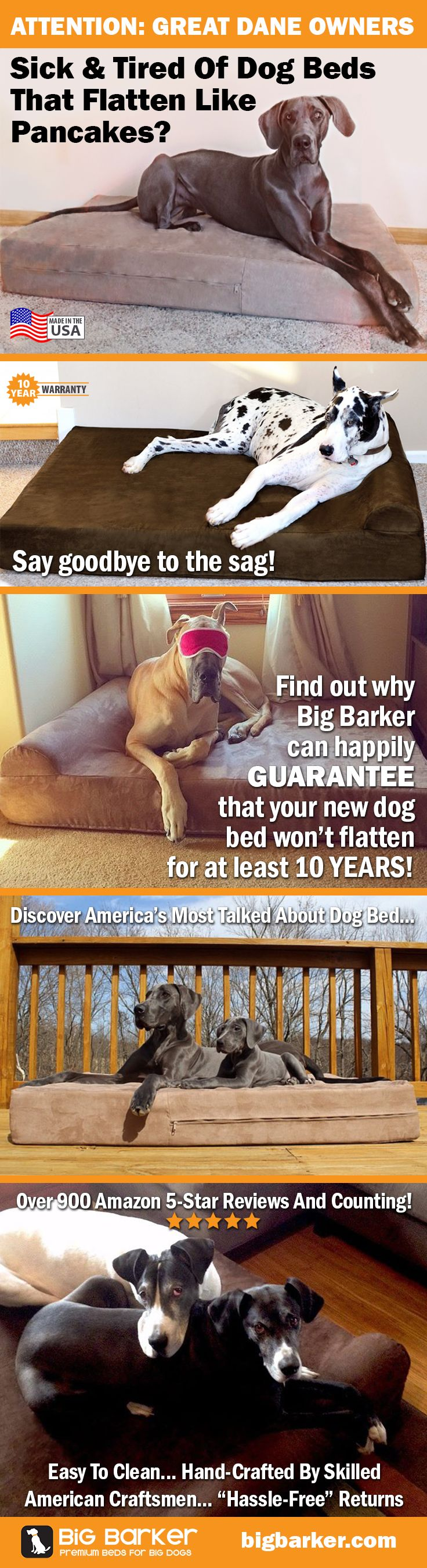 These massive Great Dane Beds available at http://bigbarker.com | Great Dane accessories | Great Dane ideas
