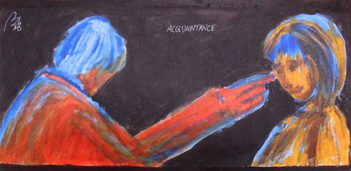 Acquaintance - BACHMORS #LoveArt #bachmors #contemporaryart #artist #palettes #color #painting #art  #SellingArt  #MakingArt #VendoArte #ArteContemporaneo #AllStyles #metamodernismo # Saatchiart @Saatchiart @ArtPal @bachmors #metamodernism #expressionism
