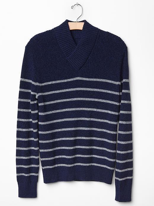 Half shawl marled sweater Product Image