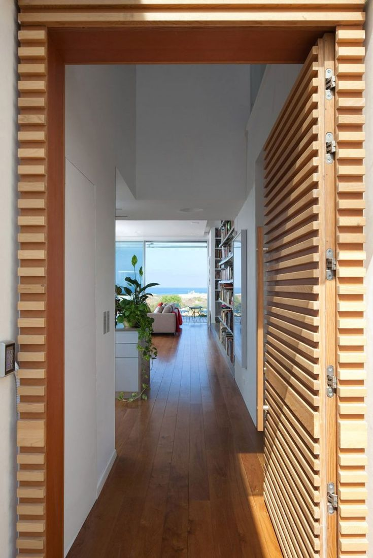 Wood Wall Cladding Door Modern Minimalist House Design With White Interior Color Decorating Ideas