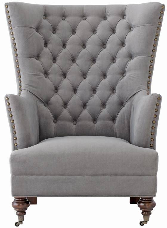 Delia Tufted Wingback Chair