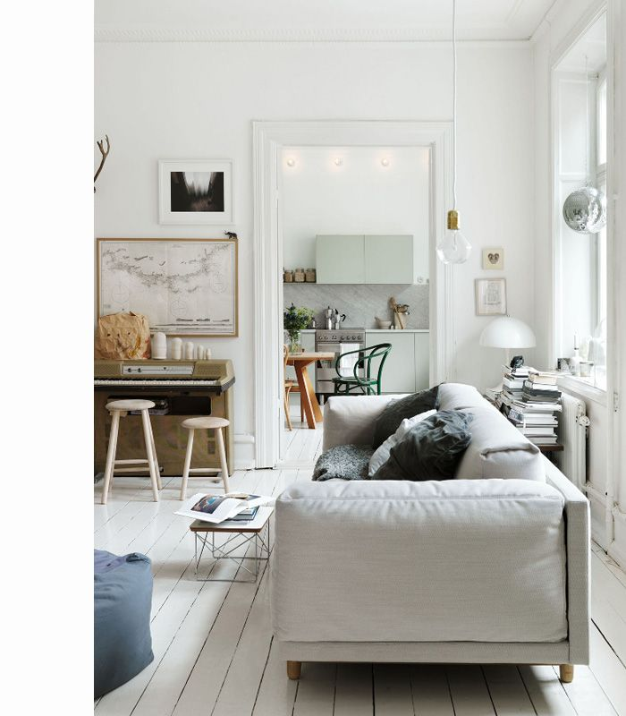 prettyDecor, Living Rooms, Living Spaces, Floors, Emma Persson, Livingroom, Interiors Design, White, House