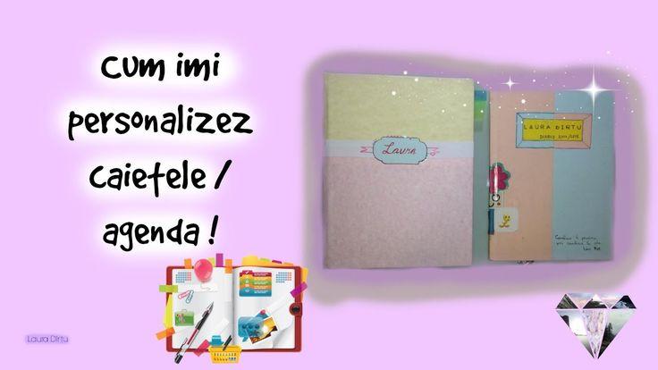DIY school diary / notebook