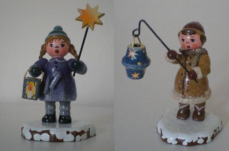 Hubrig Winterkinder Mädchen mit Sternhimmellampion und Stern und Laterne | eBay