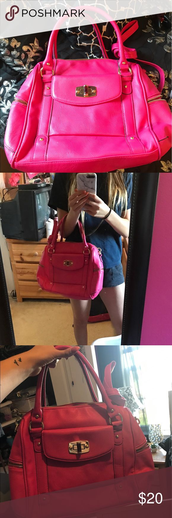 Large Pink Mossimo Target Purse Bag Crossbody So cute! I have this one and the smaller one. Such a quality bag for target. I have it in 3 colors haha Mossimo Supply Co. Bags Shoulder Bags