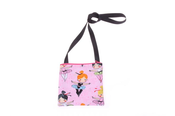 little girl ballet purse ballerina handbag, ballet ballerina coin purse makeup bag, ballet birthday party favor, stocking stuffer