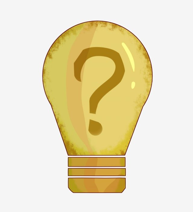 علامة استفهام لمبة ضوء الديكور التوضيح أصفر ضوء لمبة لمبة علامة استفهام زخرفة المصباح الكهربائي Png وملف Psd للتحميل مجانا Bulb Light Bulb Question Mark
