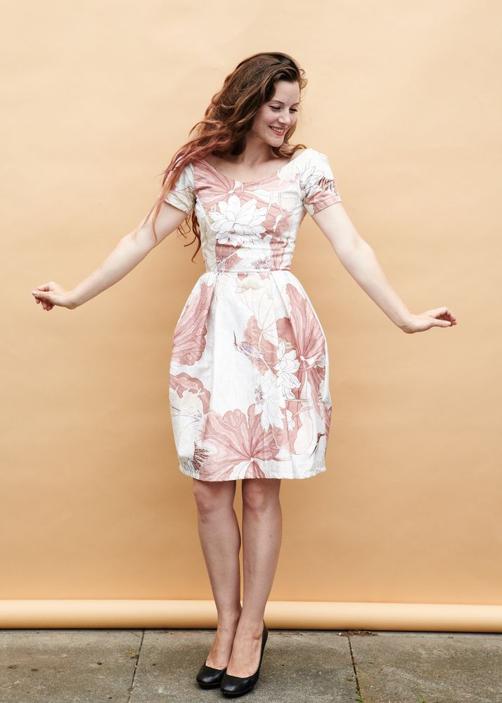 Elisalex Dress - upholstery cottons to make a dress? love it! the pattern is dreamy too