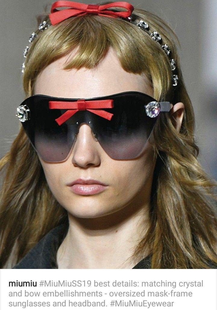 aec2a721cfea Miu Miu SS19 | Accessoriesilove in 2019 | Sunglasses, Eyewear ...