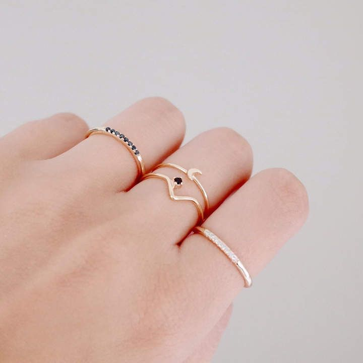 c053c2dc6d88d minimalist ring stack | Dainty // Minimalist Jewelry in 2019 | Gold ...