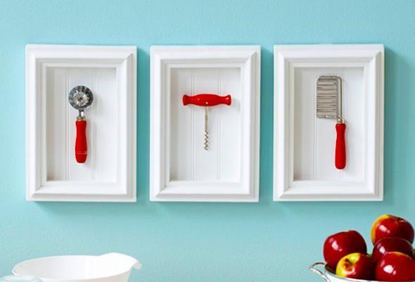Divertidos cuadros para la cocina hechos con utensilios - Cuadros para la cocina ...
