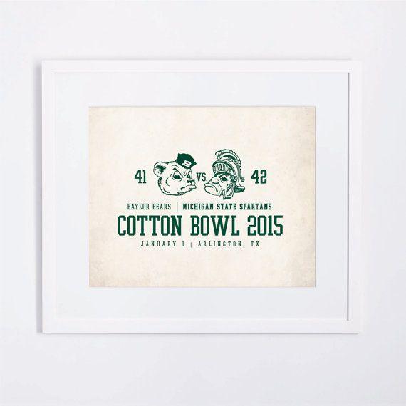Michigan State Football 2015 Cotton Bowl / Vintage by ParkerZola