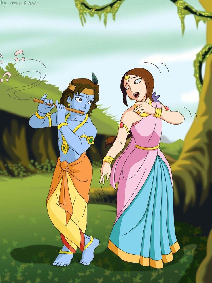 Cute Boy And Girl Love Animated Wallpapers Krishna And Radha In 2019 Radha Krishna Photo Radha