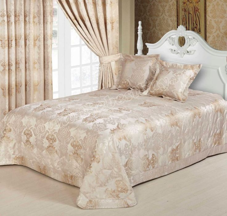 Шторы для спальни с покрывалом: Паола  (арт. 31S)  -   (270х275) х2 см.