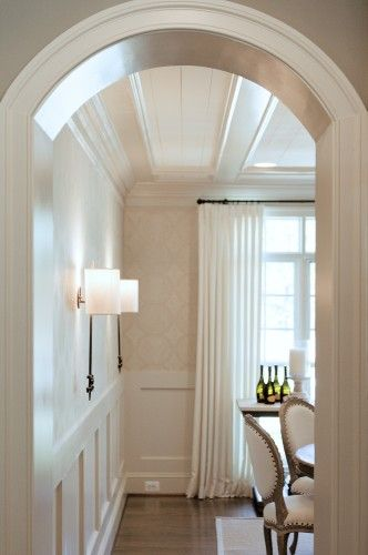 Walls ceiling curved entry traditional dining room by for Dream house studios