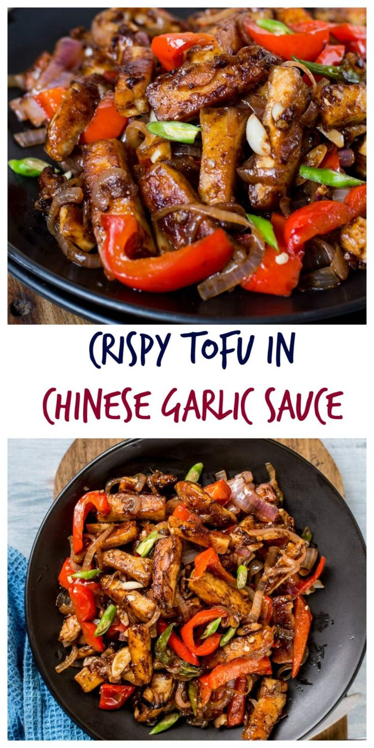 Crispy Tofu In Chinese Garlic Sauce : Take less than 20 minutes to prepare this stir fry. I have used Tofu here but you can just replace it with Chicken, Prawn , Mushrooms, even Paneer (Indian Cottage Cheese). Isn't that cool ??