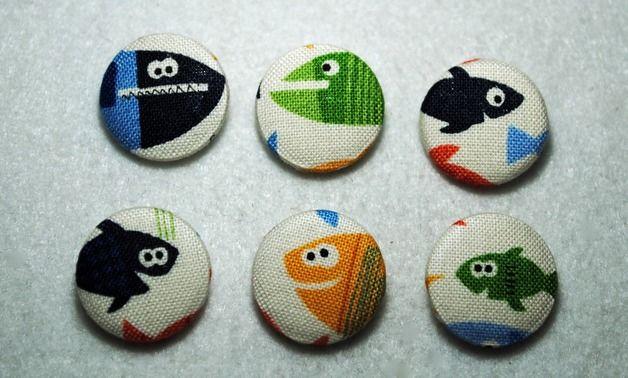 Botones - Set de botones forrados en tela 2 cm - hecho a mano por DudoMateriales en DaWanda