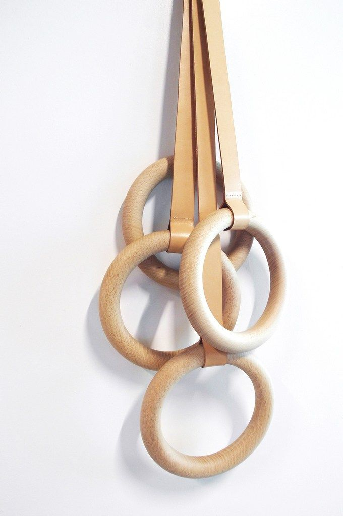 Wall-mounted wooden coat rack OLYMPIC by ENO STUDIO | #design Valérie Windeck