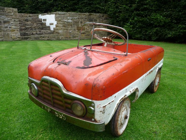 1950s Rare Tri Ang Zephyr Duotone Pedal Car Barn Find