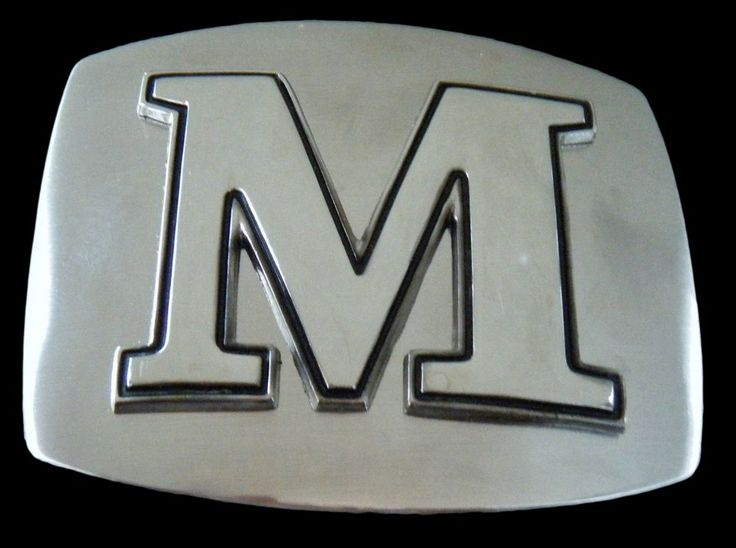 INITIAL LETTER NAME M CHROME SIGN BELT BUCKLE BUCKLES BOUCLE DE CEINTURE #initial #letter #name #beltbuckle  #Casual