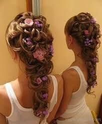 junior bridesmaid hairstyles - Google Search-- mai's hair (down)