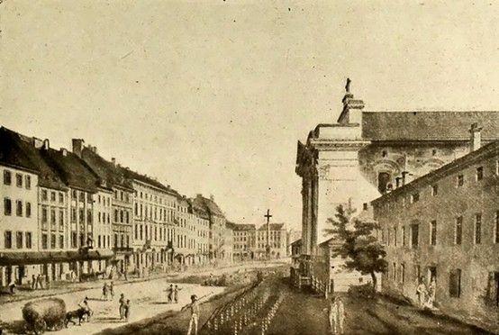 Warsaw - Krakowskie Przedmieście, 1795