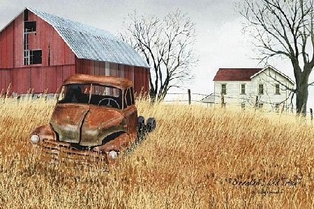 Granddads' Old Truck by Artist Billy Jacobs. I have this and I love it!!!