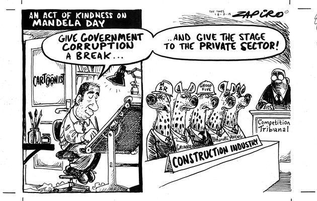 Zapiro bites on Mandela Day!