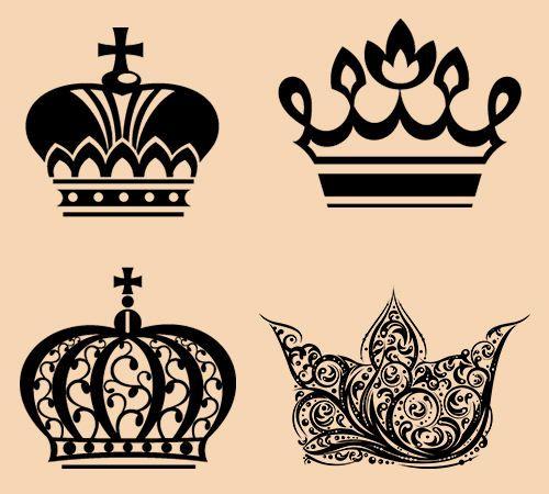 Corona tatuaje diseña el collage