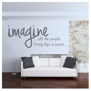 Imagine - Vinilo decorativo para el salón, cocina o dormitorio. http://www.casavinilo.es/es/vinilos-texto/123-imagine.html