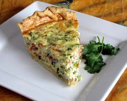 Smoked Salmon Quiche #recipe