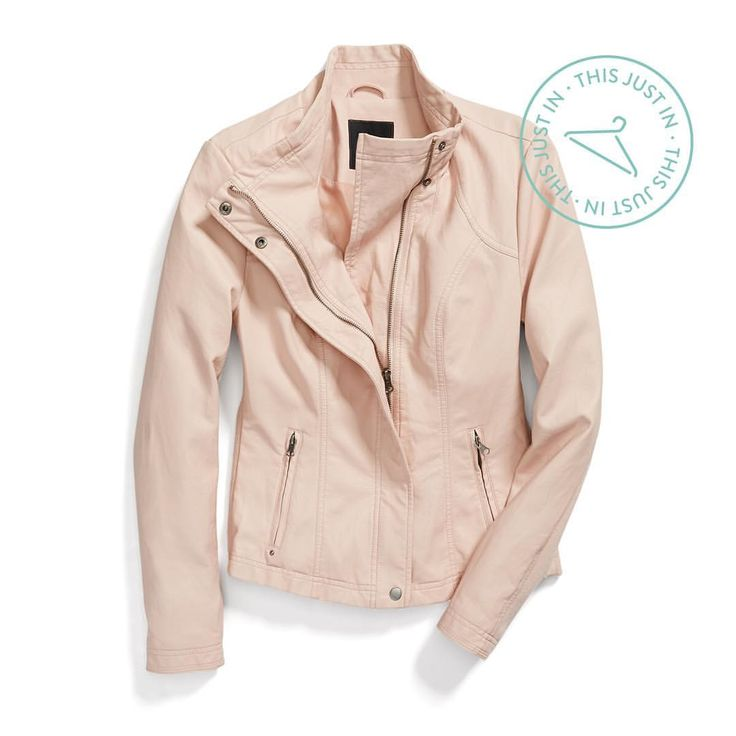 Love this!  Blush bombshell. Spring's newest neutral adds a feminine twist to an edgy staple. #trendalert