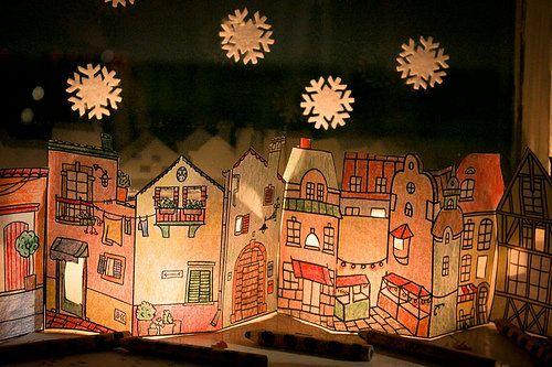 домик на окно со свечами своими руками