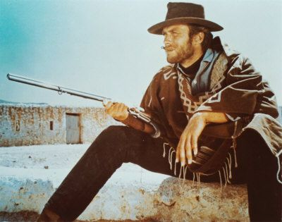 "Clint in "" For a few dollars more "" ( 1965 ) The 2nd of 3 Spaghetti Westerns Directed by Sergio Leone"