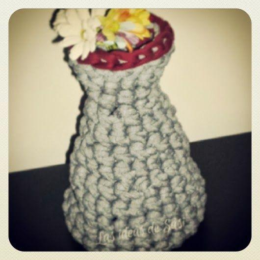 Las ideas de Susi: #tutorial para hacer un jarrón de trapillo. #crochet