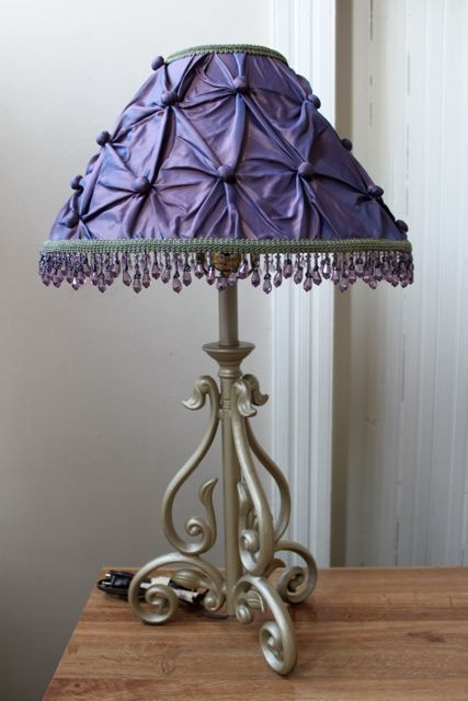 111 best beaded lamp shade images on pinterest for Purple beaded lamp shade