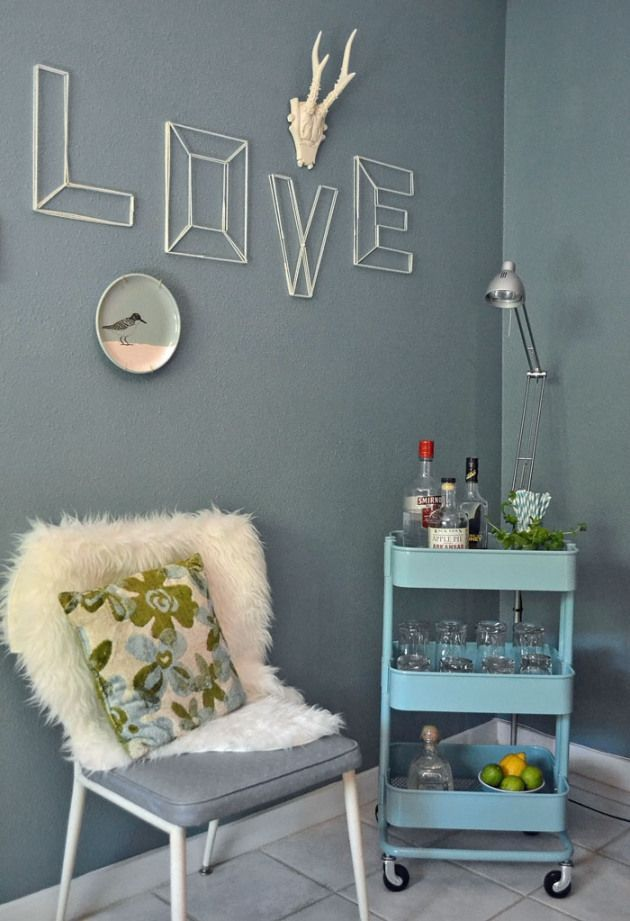 Mini Bar Ideas That Are Cute For A Dorm Room Or First Home Using The Ikea  Raskog Rolling Cart