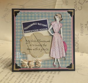 My idea of housework is to sweep the room with a glance.  #SCRAPBOOK ADHESIVES BY 3L, #Vintage Street Market, #Spellbinders,