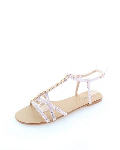 Světle růžové sandály Klarita