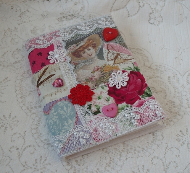 A6 Notebook with collage