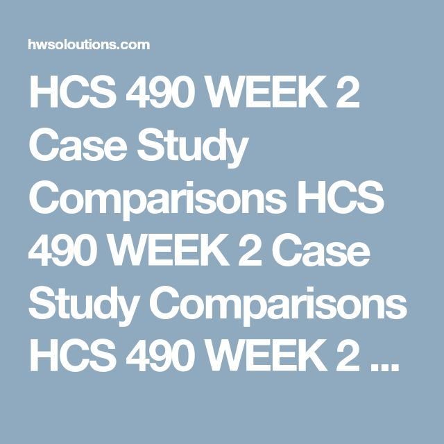 HCS 490 WEEK 2 Case Study Comparisons HCS 490 WEEK 2 Case Study Comparisons HCS 490 WEEK 2 Case Study Comparisons Case Study Comparisons  Part 1  Completethe chart below that differentiates the following insurance types.  Plan Type Characteristics of Plan (5 to 7 characteristics) Target Audience for Plan Indemnity Plan   Preferred Provider Organization (PPO)   Health Maintenance Organization (HMO)   Consumer Directed Health Plan (CDHPs)   Medicaid   Medicare     Part 2  Reviewthe…