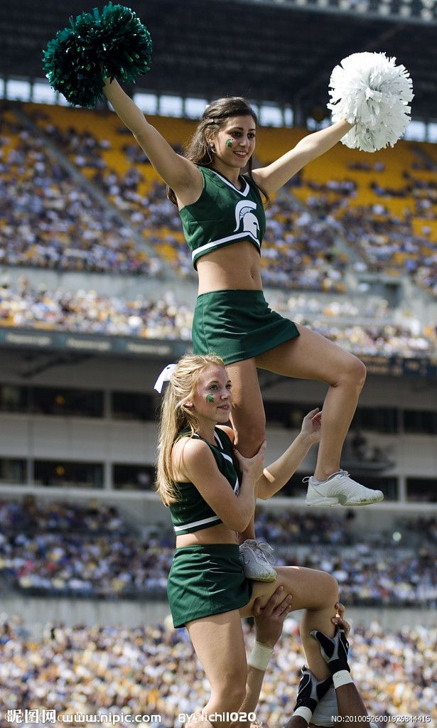 Michigan state spartans cheerleaders can