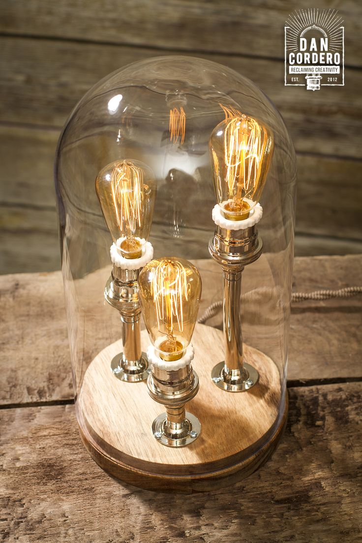 67 best edison lamps images on pinterest edison lamp table 3 miniature edison bulbs bell jar table lamp created by dan cordero geotapseo Choice Image