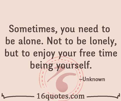 how to live alone but not be lonely