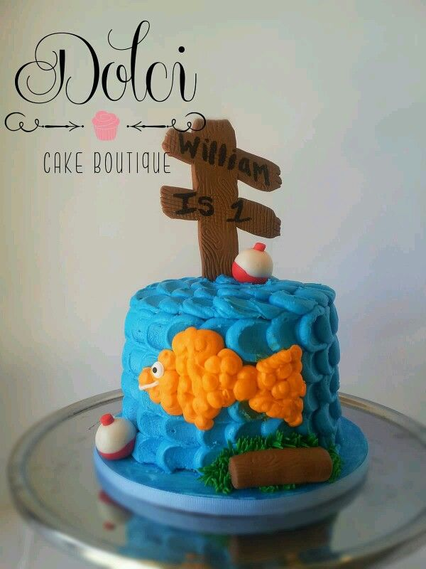 Gone Fishing Smash Cake Dolcicakeboutique Birthday Cake